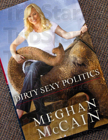 Dirty Sexy Politics: Detail photo of Meghan McCain's book cover.