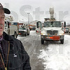 Tribune-Star/Jim Avelis<br /> Response: Rick Burger of Duke Energy stands by the extra help the company has sent to the Wabash Valley to help with power outages.