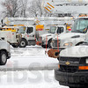 Tribune-Star/Jim Avelis<br /> Responders: Nearly 50 trucks from Duke Energy and their contractors sit ready to deploy from the Walmart parking lot on State Road 46. Crews from far beyond the Wabash Valley are here to help local crews restore electricity as quickly as possible.