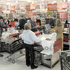 Supplies: Baesler's was doing a brisk business Monday afternoon as customer's prepare for the coming snow storm.