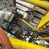 Tribune-Star/Rachel Keyes<br /> In the Engine: Mechanic Bryan Chenoweth works on rebuilding a plane engine at Turbines Inc.