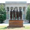 """Tribune-Star/Jim Avelis<br /> The four: David Richmond, Franklin McCain, Ezell Blair, Jr, (Jibreel Khazan) and Joseph McNeil are cast in bronze in this work entitled """"February One' in honor of the Greensboro Four. The statue is on the campus of North Carolina A&T University"""