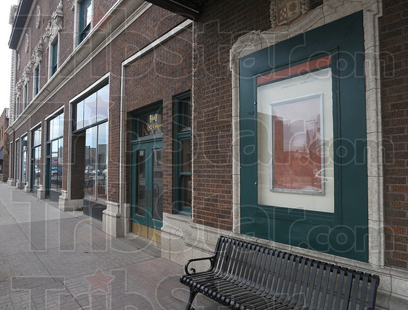 Tribune-Star/Jim Avelis<br /> Coming soon: A change of owners is in the works for the Indiana Theater. For now no announcements of coming attractions are pinned up out front.