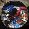 Tribune-Star/Jim Avelis<br /> Not allowed: A bucket containing items confiscated at the Vigo County courthouse security checkpoint holds knives, scissors and pepper spray among other items.