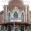 Tribune-Star/Jim Avelis<br /> Fixer upper: Plans are to restore the ornate massonry along the top of the front of the Indiana Theater.