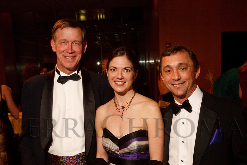 (Denver, Colorado, Feb. 12, 2011)<br /> John Hickenlooper, Sandra Brown, and Gil Boggs.  Colorado Ballet Gala at Westin Tabor Center in Denver, Colorado, on Saturday, Feb. 12, 2011.<br /> STEVE PETERSON