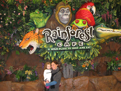 first trip to Rainforest Cafe