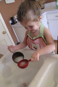 """""""helping"""" with dishes"""