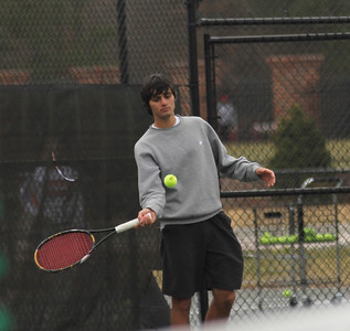 Korham Ates waits for his match against Presbyterian on february 9th, 2011.