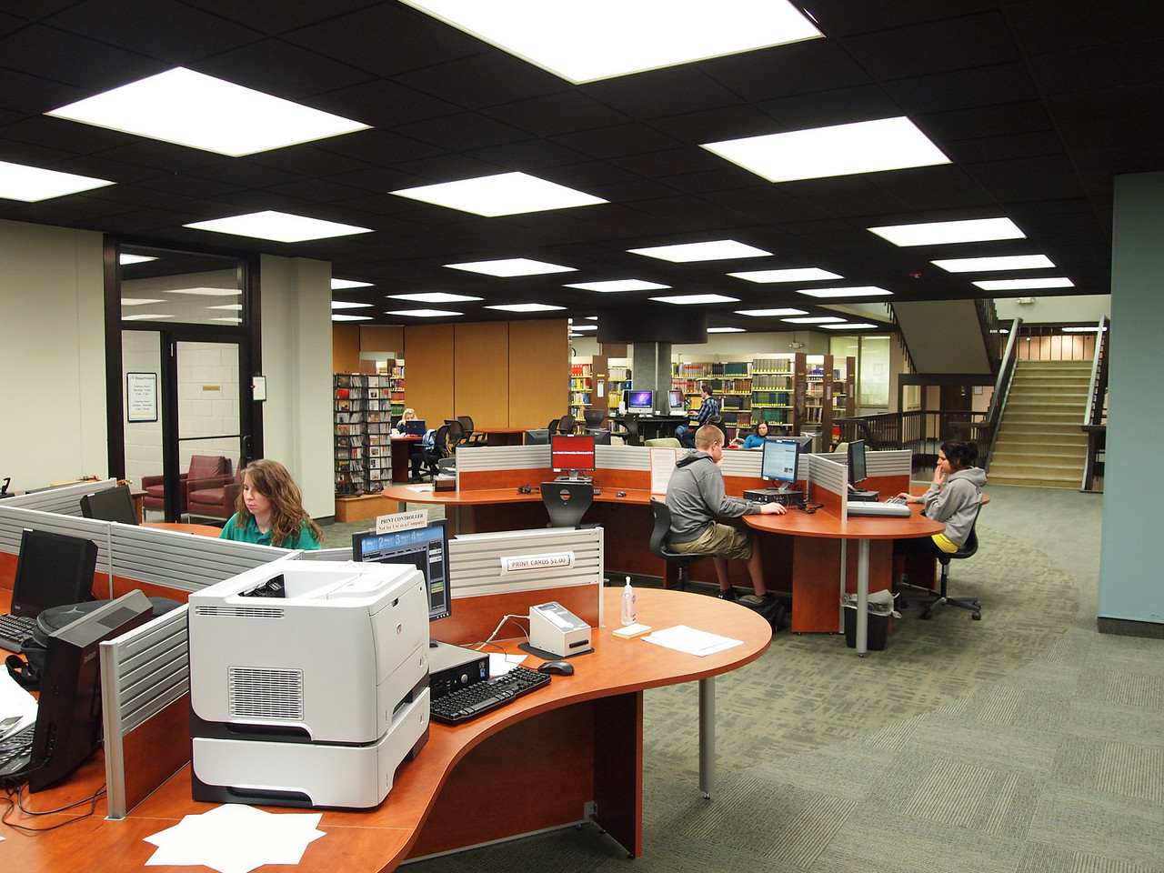 the new desks open up a lot of room
