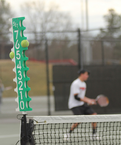 The GWU Men's Tennis team faced Presbyterian College on February 9th, 2011