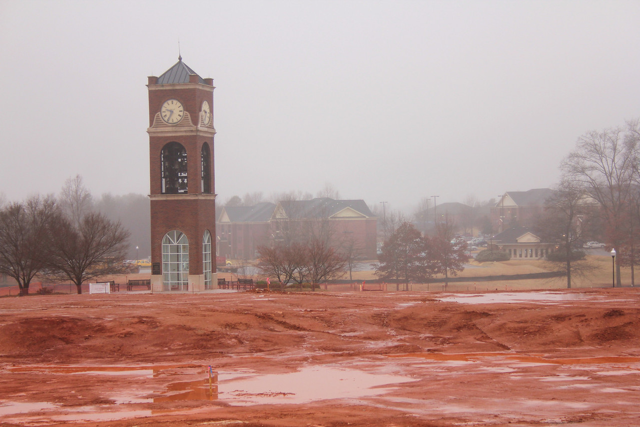 Red clay and water do not mix.
