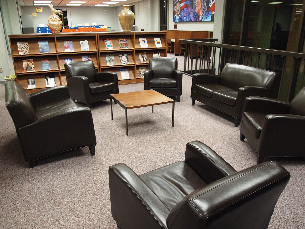Some nice new leather seats to sit and study in