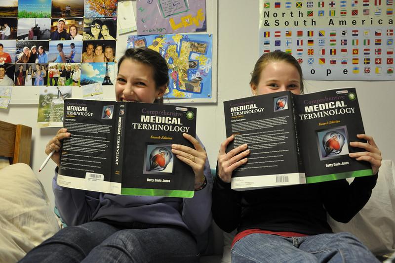 Mason Smith and Caitlin Blazek studying Medical Terminology