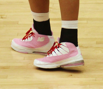 GWU players sported pink shoes in their game against Coastal Carolina to support breast cancer awareness.