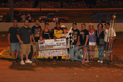 Don O'Neal and Crew in Victory Lane @ Florence Speedway