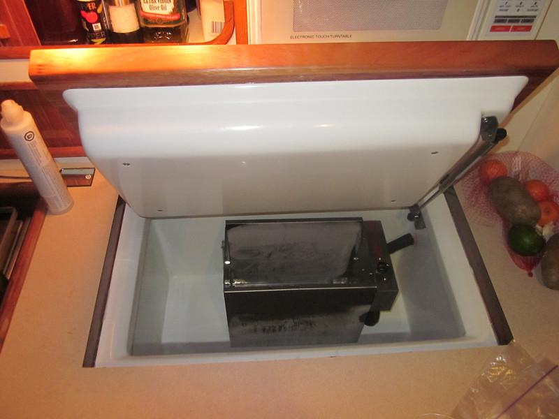 New custom refrigerator installation
