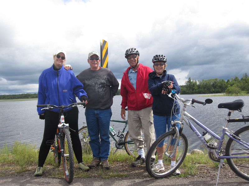 MARILYN, GREG,DOUG & PAM AT CHEQUAMEGON WATERS FLOWAGE