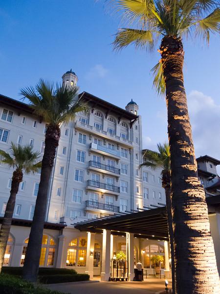 Hotel Galvez at dawn