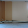 TV cabinet will go here. (Light wall.)