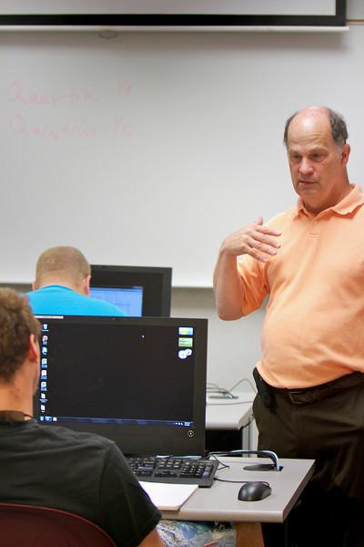 Business classroom photos; Spring 2011