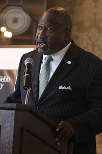 Ronnie Bryant, CEO/President of Charlotte Regional Partnership, was the guest speaker for Gardner-Webb's Executive Breakfast.