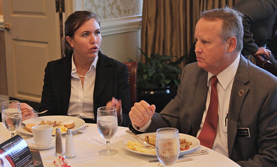 Gardner-Webb University's Executive Breakfast in Charlotte, NC encouraged attendees to meet and speak with other people involved in Gardner-Webb University.