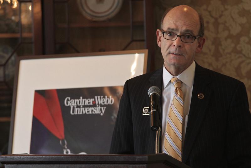 Dr. Frank Bonner, President of Gardner-Webb University, concluded the Executive Breakfast with remarks.