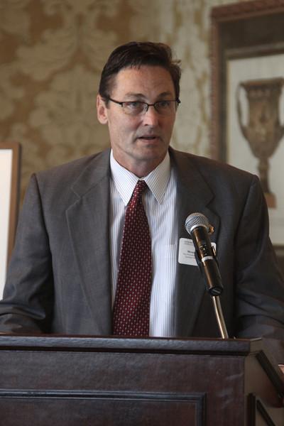Monte Walker, Vice President for Advancement of Gardner-Webb University, at the Executive Breakfast.