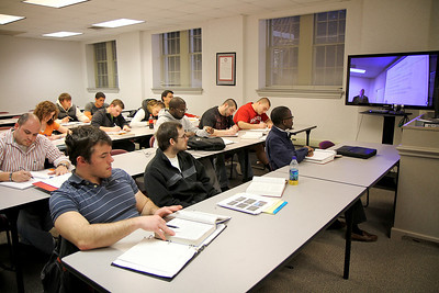 Smart Classroom in Hamrick Hall; January 2011.