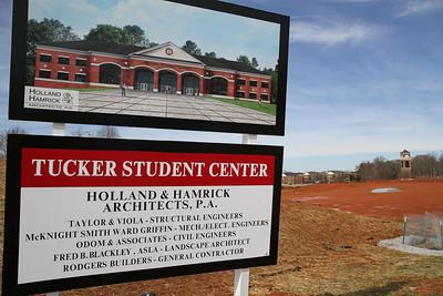 Site of Gardner-Webb University's Tucker Student Center; February 2, 2011.
