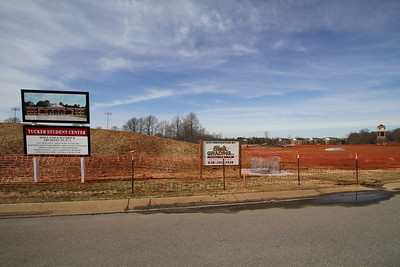 Site of Gardner-Webb University's Tucker Student Center; February 2, 2011.
