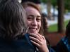 Chantal giving Isabel a hug