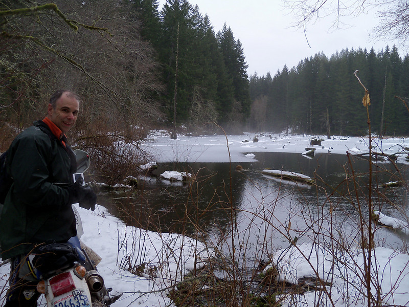 Scott and a nice looking beaver pond