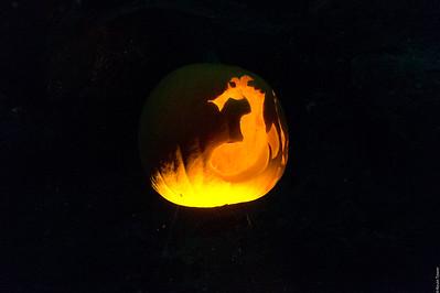 Spooky Underwater Pumpkin