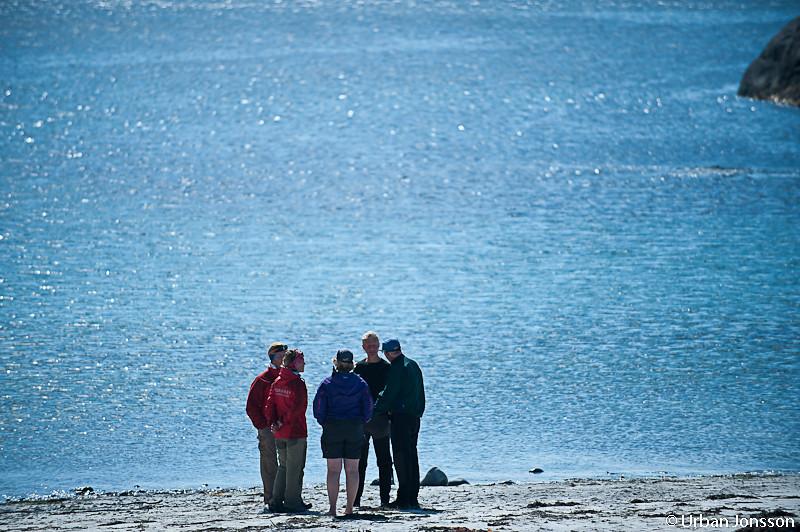 Förbrödring med ett norskt paddlargäng som låg här samtidigt, de hade varit ute i tio dagar.