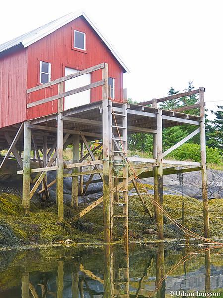 Här måste man anpassa sig till tidvattnet, som mest skiljer det 2,5 meter...