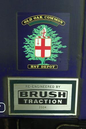 Old Oak HST Depot Crest and Brush Works Plate on 57605