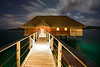 bora bora four seasons room at night