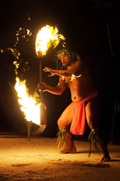bora bora fire dance