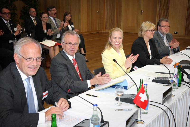 Switzerland / Mr Johann N. Schneider-Ammann<br /> EFTA / Kare Brynn<br /> Liechtenstein / Aurelia Frick<br /> Norway / Rikke Lind<br /> Iceland / Oessur Skarphédinsson