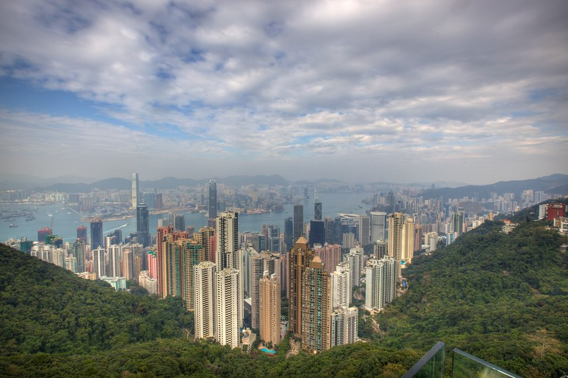 View over Hong Kong from Victoria Peak.