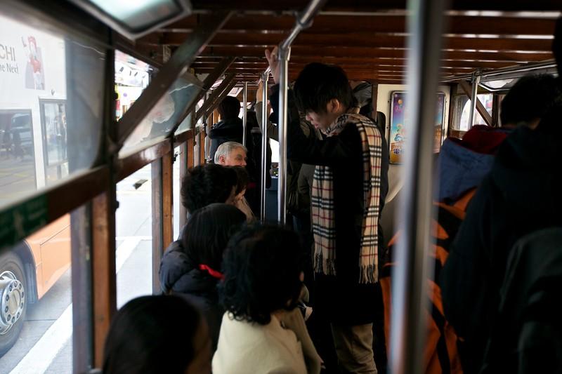 On a tram (1).