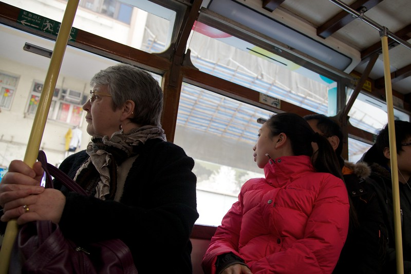 On a tram (3).