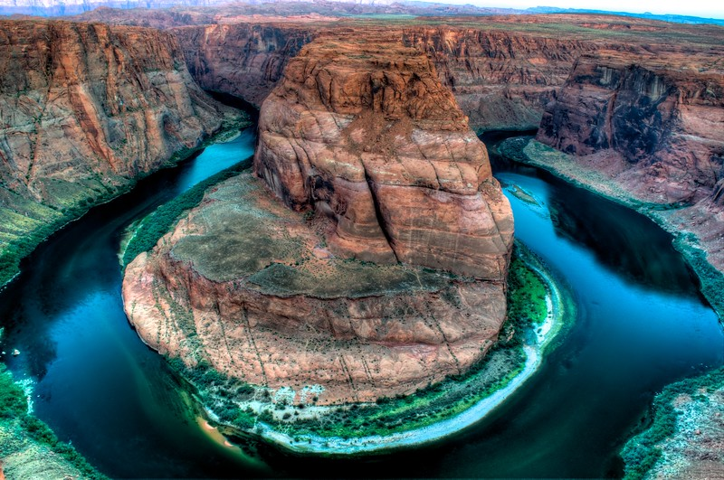 Horseshoe Bend in Page, Arizona.  Processed using Photomatix and Aperture.