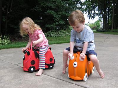 Racing -- ladybug vs. tiger