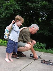 Grandpa applies technology