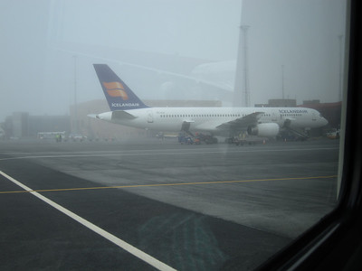 Foggy airport
