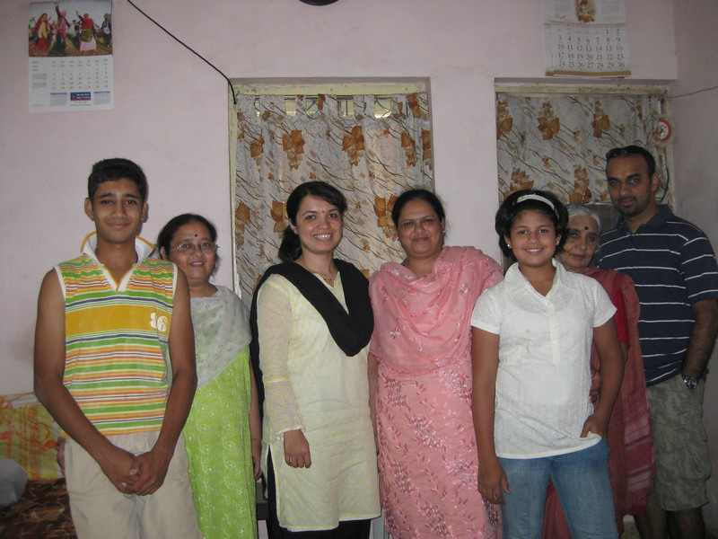 with Manik tai and family