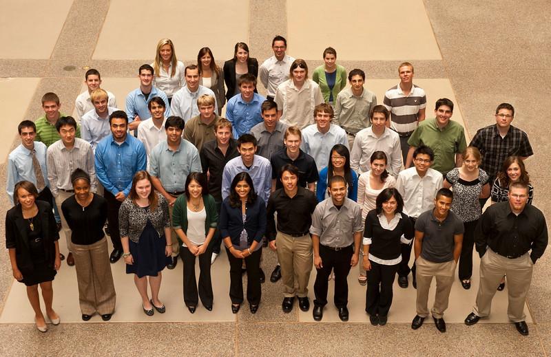 Summer intern students pose in B/157 litrium. Work order # 58354